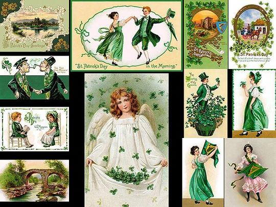 Product picture 12 Vintage St Patricks Day Illustrations